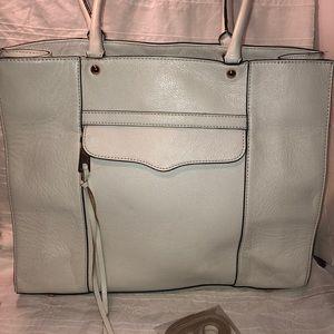 RebeccaMinkoff white leather MAB  tote !